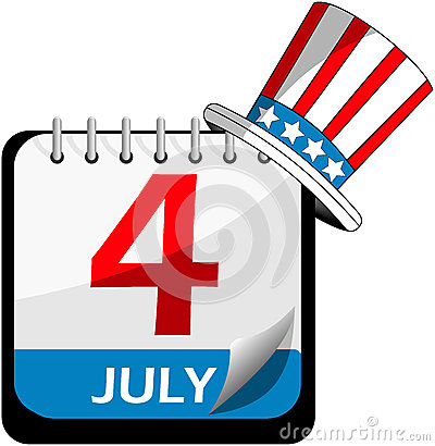 美国独立日日历
