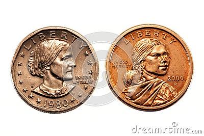 美国硬币比较美元