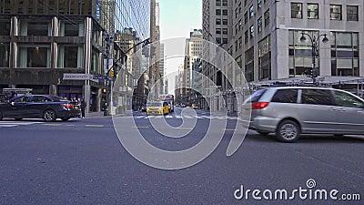 美国纽约市列克星敦大道和第42街 股票录像