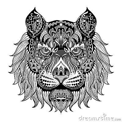 黑白色手拉的乱画 种族样式传染媒介例证 图腾,纹身花刺设计 具体化