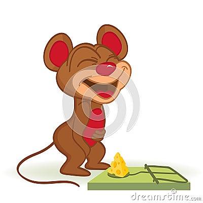 老鼠和乳酪在捕鼠器