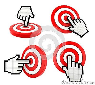 设置老鼠指向目标的手指游标象.图片