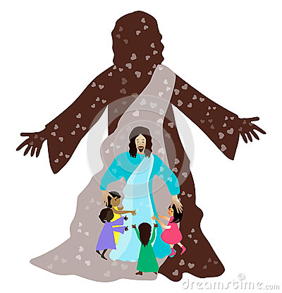 耶稣爱小孩图片