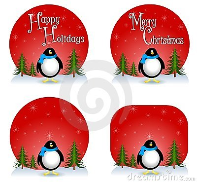 背景圣诞节企鹅