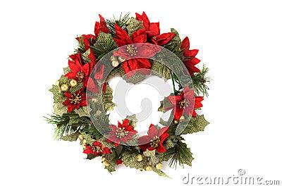 背景圣诞节查出的花圈
