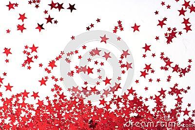 背景红色星形