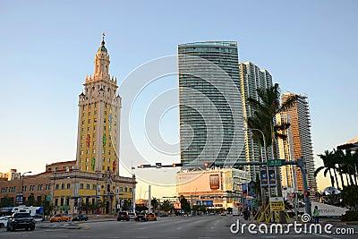 自由塔在迈阿密 编辑类库存图片