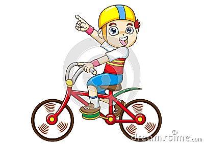 自行车男孩骑马图片