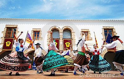 舞蹈欧洲民间传说ibiza西班牙 编辑类照片