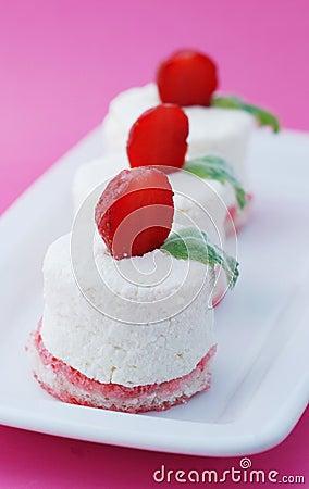 航空饼干凝结草莓柔软