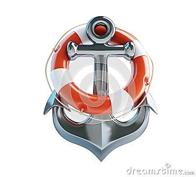 船锚和救生圈