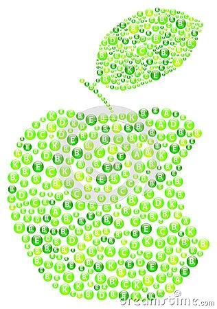 绿色苹果计算机叮咬