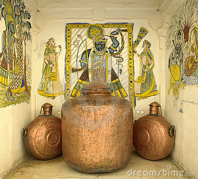 艺术品铜印度印第安斋浦尔船 编辑类库存图片