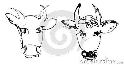 艺术性的母牛版本