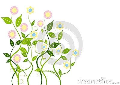 花卉抽象背景