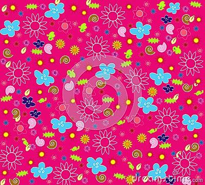 花卉无缝的墙纸