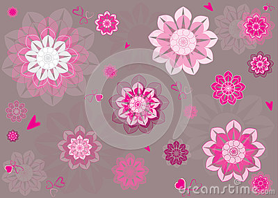 花卉样式,无缝的传染媒介样式