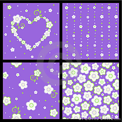 花卉模式无缝的春天华伦泰