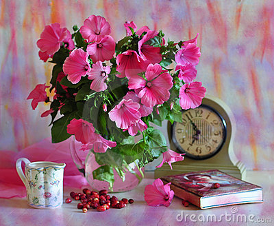 花束粉红色
