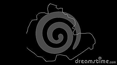 苗栗县地图轮廓动画 影视素材