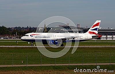 英国320条的空中航线 编辑类库存照片