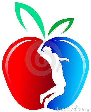 苹果人剪影