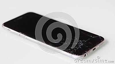 苹果新iPhone上的液晶屏破裂 股票视频