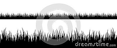 草无缝的剪影