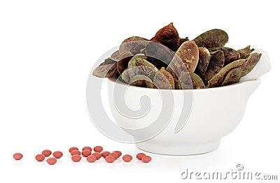 荚番泻树片剂