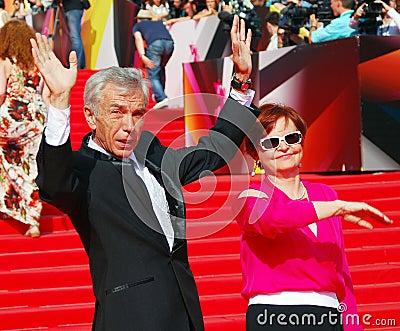 莫斯科电影节的尤里Nikolaev 编辑类照片
