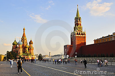 莫斯科红场 编辑类库存照片
