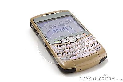 获得的邮件您 图库摄影片