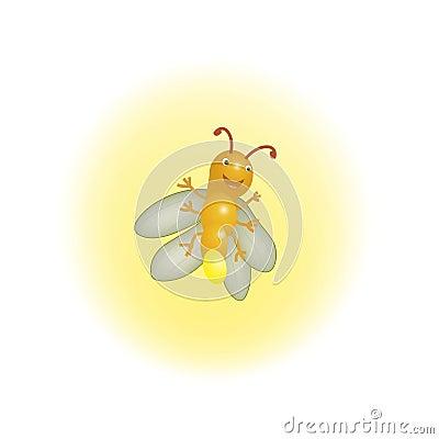 作用萤火虫发光的黄色.