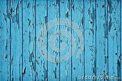 水色或深青色蓝色葡萄酒样式木墙壁. 绘剥落木板条.