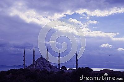 蓝色伊斯坦布尔清真寺
