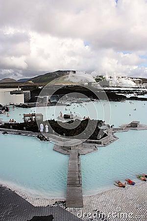 蓝色冰岛盐水湖