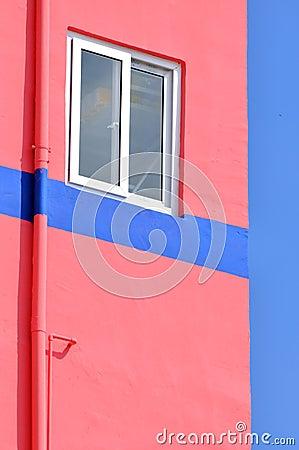 蓝色和粉红色