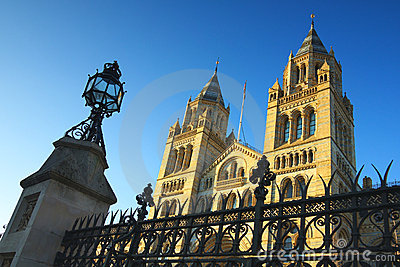 蓝色清楚的历史记录伦敦博物馆国民天空