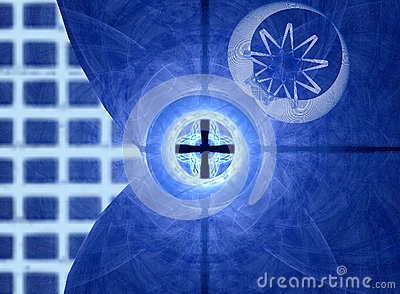 蓝色网格和移动