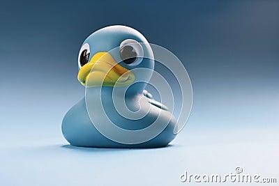 蓝色鸭子图片