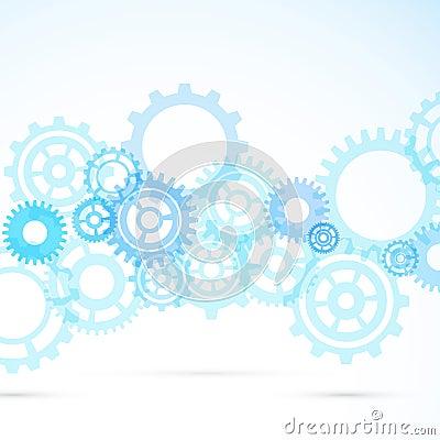 蓝色齿轮摘要现代机械背景 也corel凹道例证向量.