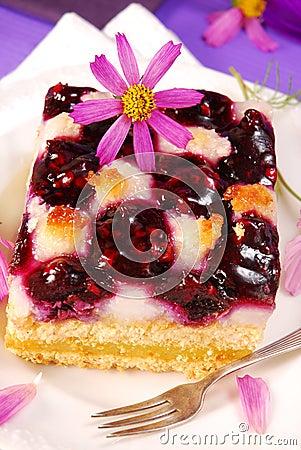 蓝莓蛋糕椰子