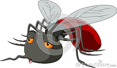 逗人喜爱的蚊子动画片的例证.