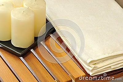 蜡烛温泉毛巾蜡