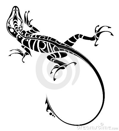 蜥蜴纹身花刺