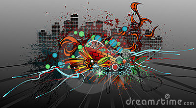 街道画grunge