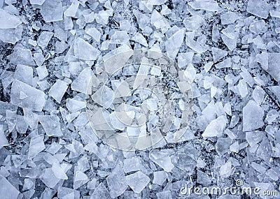 被打碎的冰
