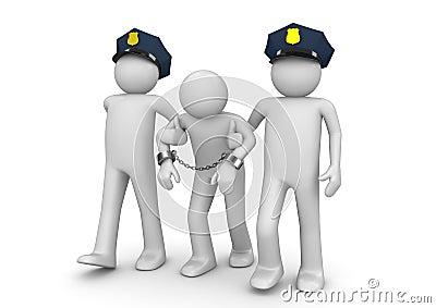 被拘捕的法定罪犯