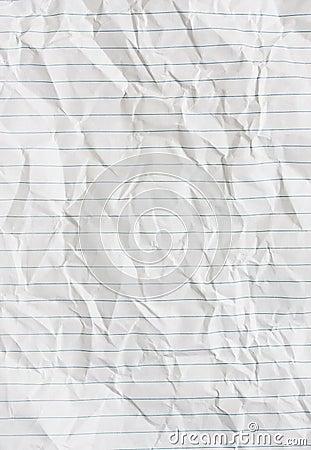 被排行的纸张