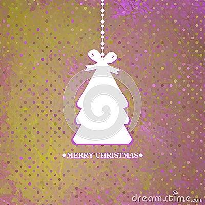 装饰的蓝色圣诞树。EPS 8